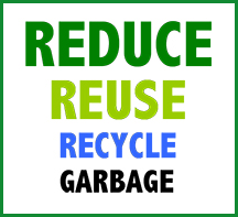 Reduce, Reuse, Recycle, Garbage
